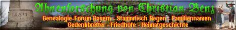 """Familienforschung und Heimatgeschichte im Raum Kirchberg im Wald (LK Regen, Deggendorf/Niederbayern), Forum """"Bayerischer Wald"""", Genealogie-Stammtisch Regen."""